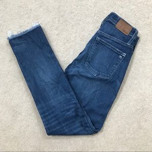 Madewell slim straight raw edition jeans size 25